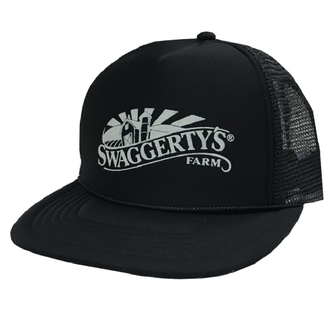 Swaggerty's Black Screen Printed Trucker Hat
