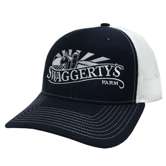 Swaggerty's Navy and White Embroidered Ballcap